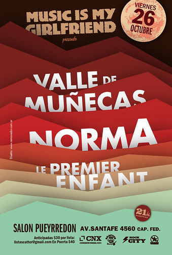 VIE 26 OCT Music is My Girlfriend | VALLE DE MUÑECAS + NORMA + LE PREMIER EN FANT