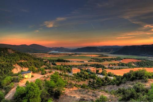 sunset panorama lake mountains nature water weather spain europe day view natureza scene clear vista aragon ainsa hdr pyrenees pinkred usana aínsasobrarbe mygearandme bewiahn