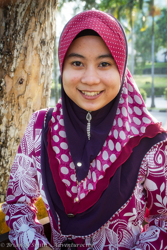 Young Muslim Malay Woman, Kuching