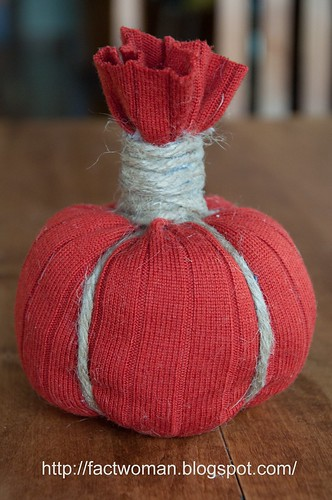 How to make a sweater pumpkin!