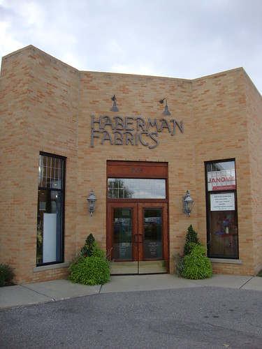 back entrance to Haberman Fabrics, Royal Oak, MI