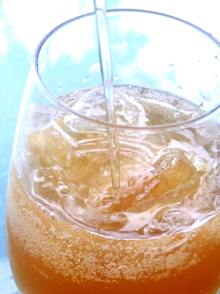 Homemade Ginger Ale - Adding The Soda