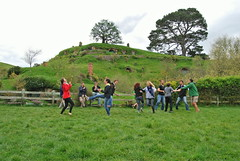 On their day off some students visited obbiton, The Lord of the Rings set, and danced in the party field