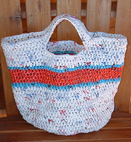 Recycled Round Grocery Tote Bag