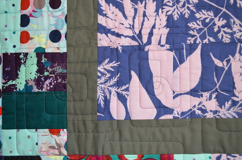 Quilting on Habitat Quilt