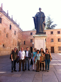 Statue of Fray Luis de León at the University of Salamanca