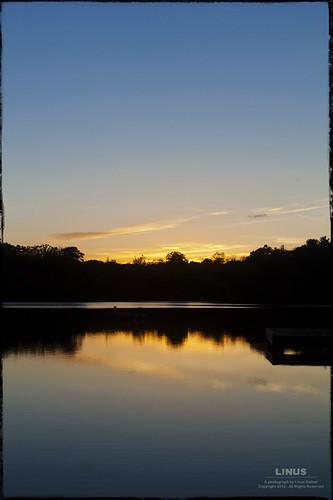 sunset sky lake newyork reflection nature water clouds evening pond dusk kingston williamslake rosendale ulstercounty fifthlake canon28135mmisusm