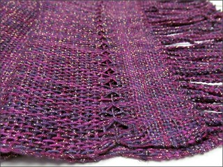Blueberry Thrill Shawl, close up