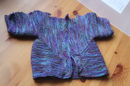 wip wednesday: baby surprise jacket.