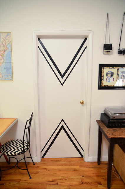 New York Apartment: Chevron Doors