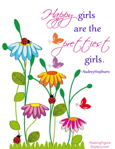 """Happy Girls are the Prettiest Girls"" Word Art Freebie"