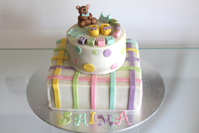 neutral baby shower cake flickr photo sharing