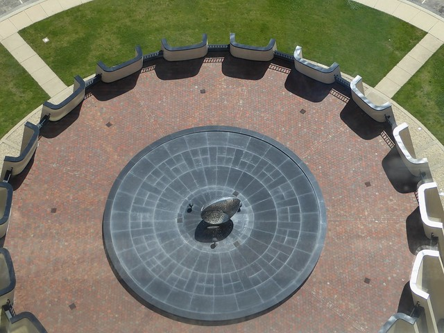 Batavia, IL, Fermi National Accelerator Laboratory, View of Sculpture Ring from Wilson Hall
