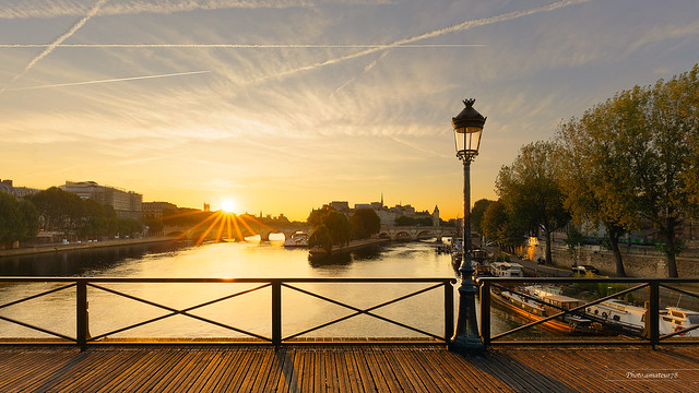 Lever de soleil sur le Pont des Arts