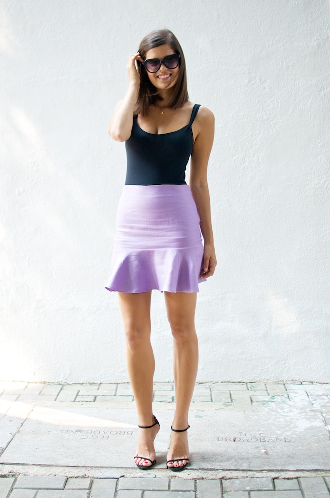 DIY fluted flared hem skirt 4