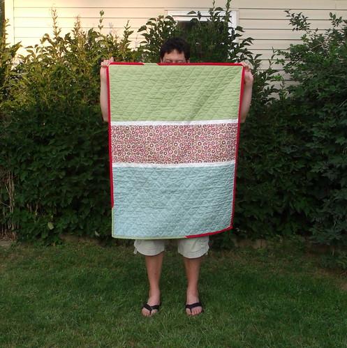 Maren's 2nd quilt back