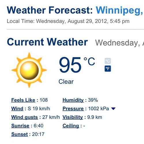 It's a hot one today!
