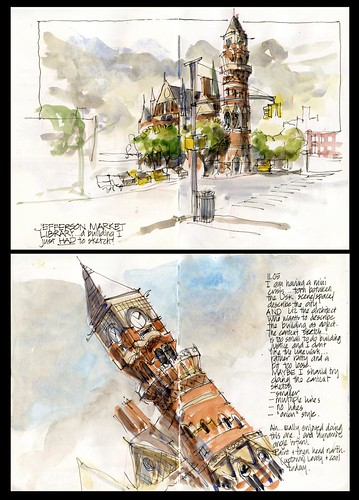 Thinking about my Jefferson Market Library Sketches by borromini bear
