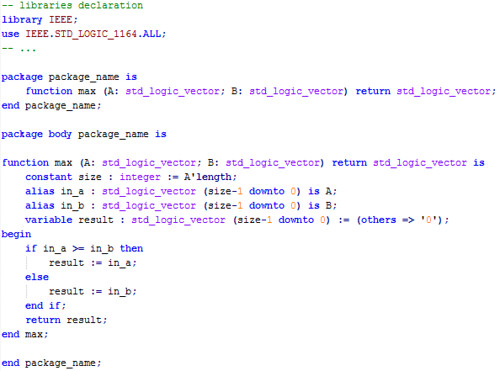 Max function code