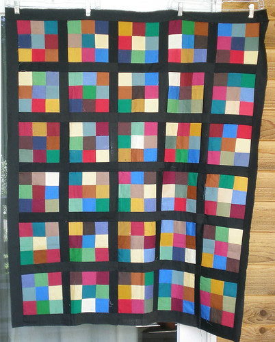 Amish 9 patch top 38 x 46 Lynne