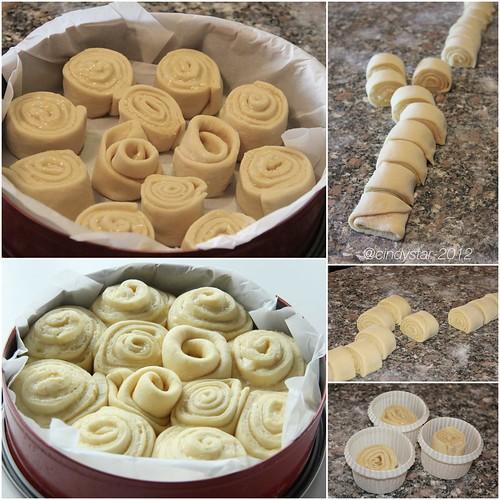 making roses cake