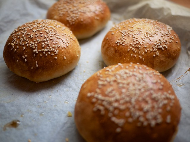 Light brioche burger buns, fresh from the oven | Flickr - Photo ...