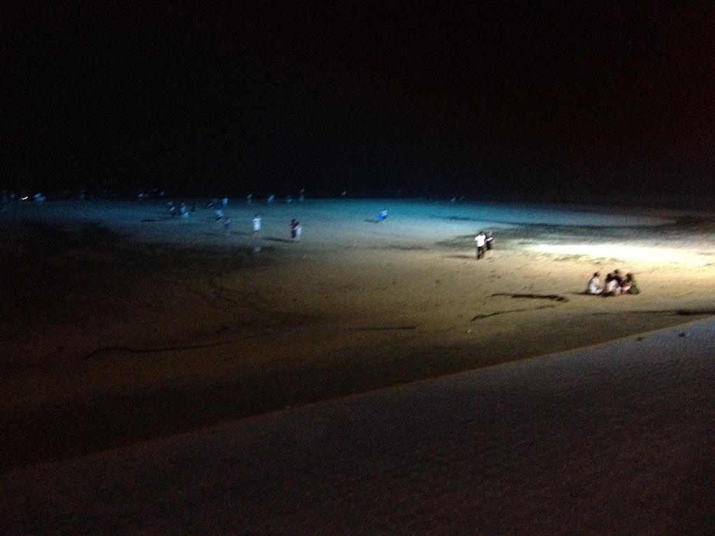 Night time on Daecheon Beach