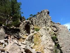Remontée du haut-Velacu : couloir final d'arrivée au Tafonu avec les épouses en haut