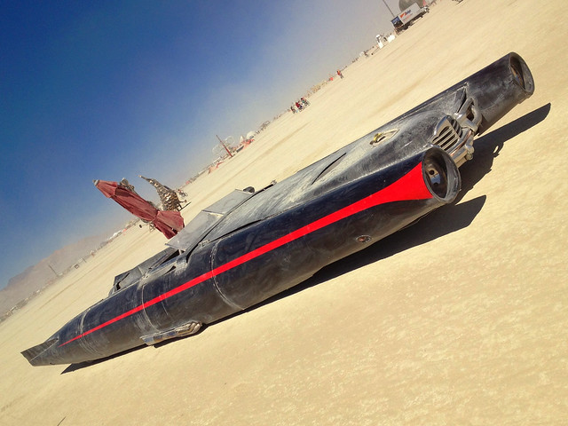 Rocket Car by David Best -- Burning Man 2012