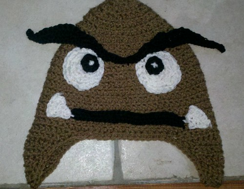 Goomba Hat by MadewithLoveCrochet