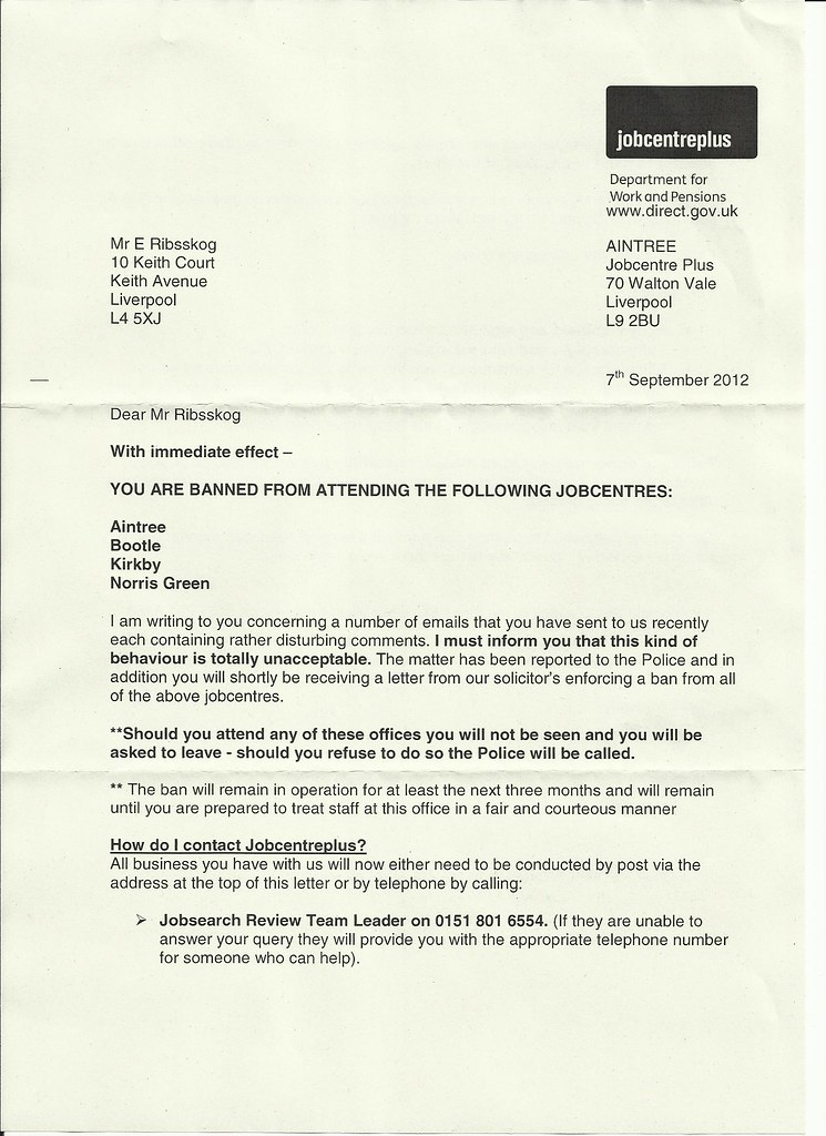 jobcentre brev 1