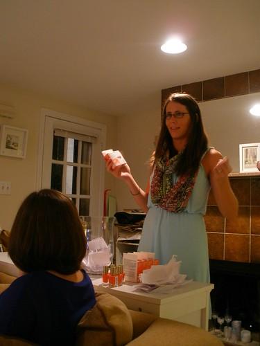 Rebecca explaining