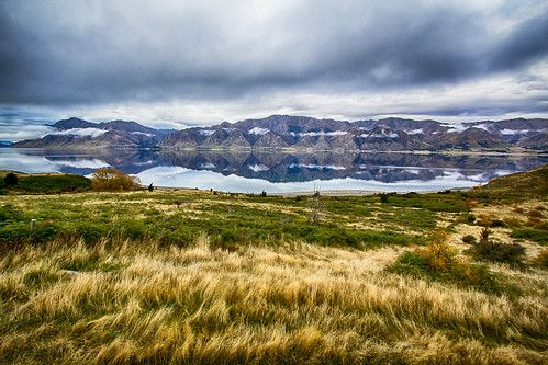 new newzealand sky lake mountains nature field grass clouds dark landscape ominous zealand hdr hawea hdrphotography