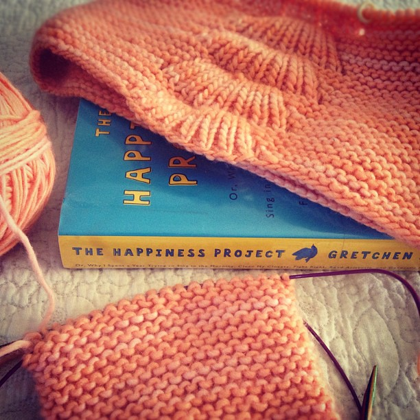 Reading and knitting...