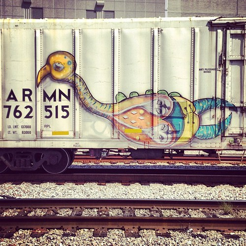 Awesome sad train bird