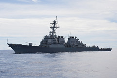 In this file photo, USS Fitzgerald (DDG 62) operates in the Pacific Ocean. (US Navy photo by Mass Communication Specialist 3rd Class Paul Kelly)