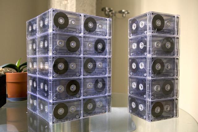Cassette Tape Lamps: 1x5, 2x5