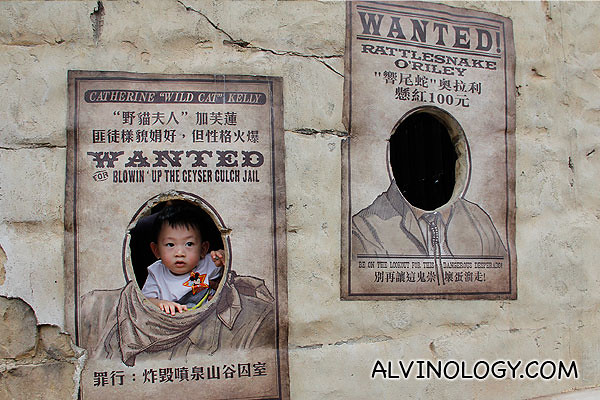 Asher on a wanted poster