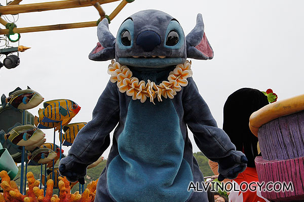 Close-up of Stitch