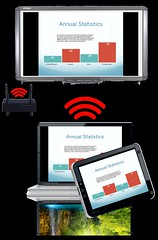 qomo hitevision qwps 1000 twp 100 ipad mobile device android iphone smartphone phone laptop presentation system wireless