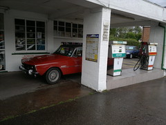 Rare petrol station selling leaded fuel