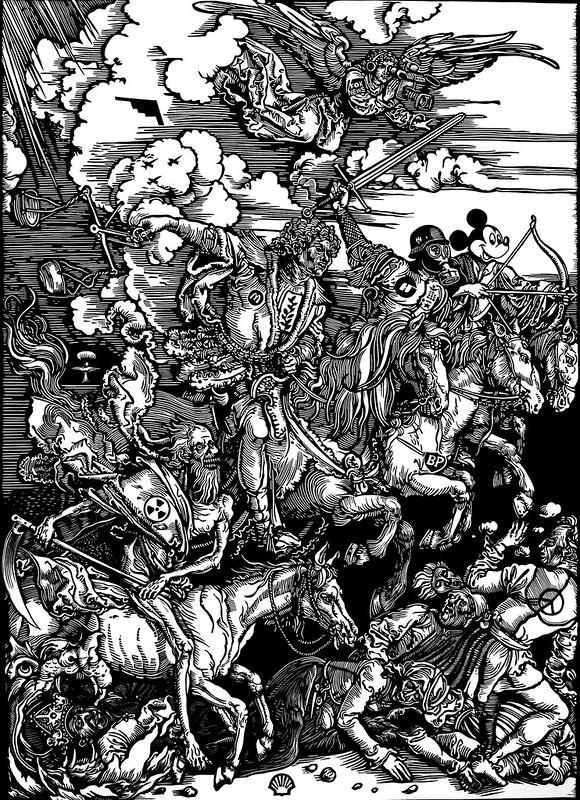The Four Horsemen of the Apocalypse (after Dürer)