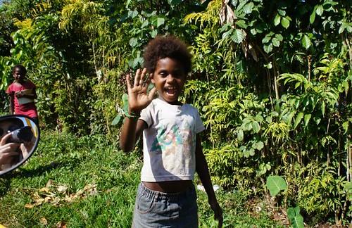 Local kids in Vanuatu