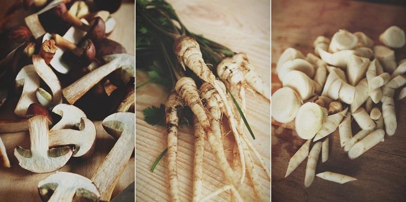001 Roasted pumkin and mushrooms