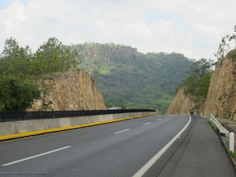 Cycling south of Tepic toward Jala