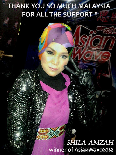 Shila Amzah menang Asian Wave 2012