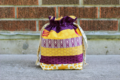 Horizontal Stripes Drawstring Bag by Jeni Baker