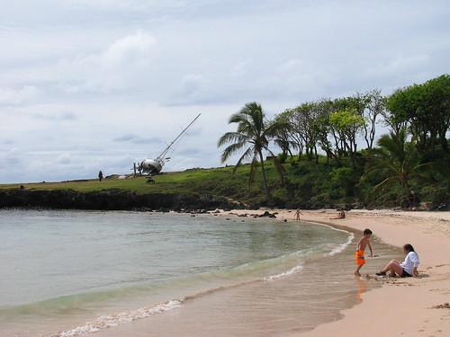 Vista general de Playa Anakena