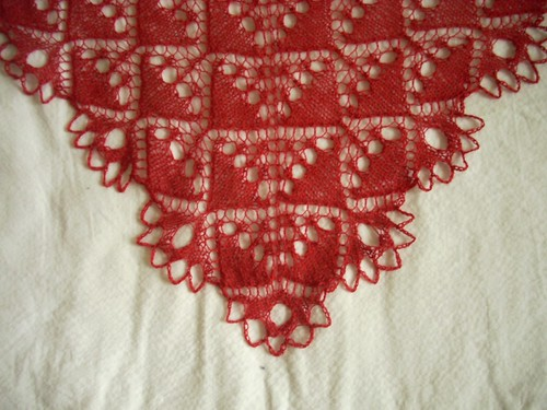 """English Crystal"" shawl: corner by Asplund"