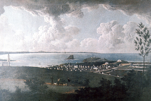 C918-0211 Painting, [Newcastle convict settlement], by Joseph Lycett
